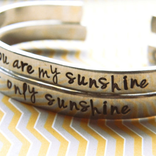 Ensemble de BRACELETS you are my sunshine 🌞 my only sunshine