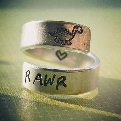 BAGUE - RAWR veut dire je t'aime dans le langage des dinosaures