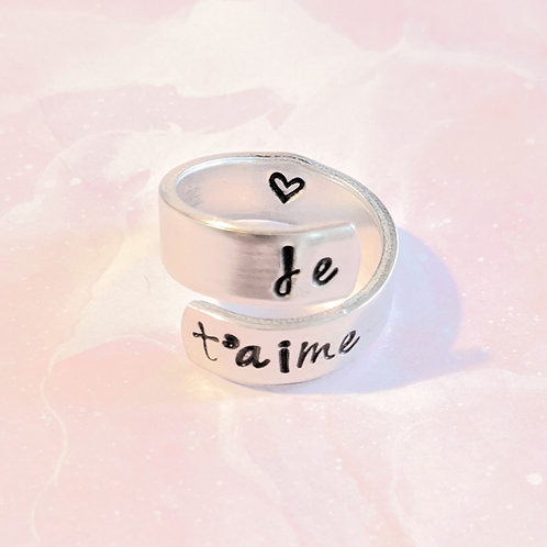 BAGUE/RING je t'aime 💗