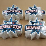 ARCA Midwest Tour Screen Printed Die Cut