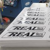 Real Racing Wheels Screen Printed Die Cut