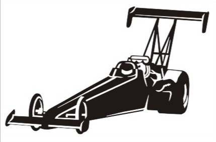 Dragster Window Decal