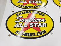 Southern All Stars Racing Series Screen Printed Die Cut