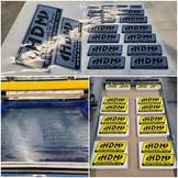 HDM Screen Printed Die Cut