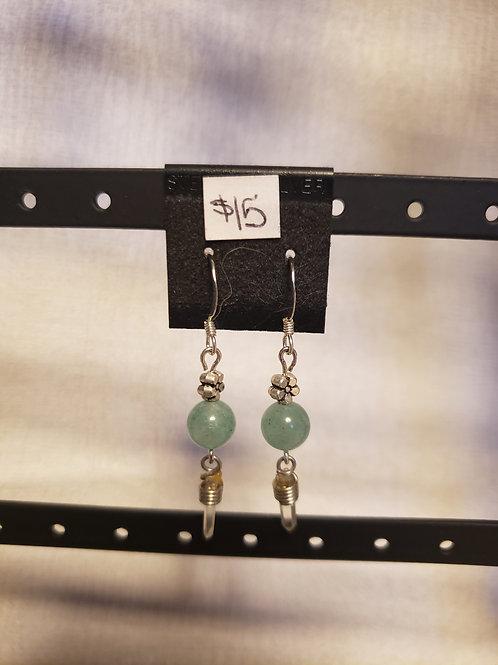 Aventurine and Crystal Earrings