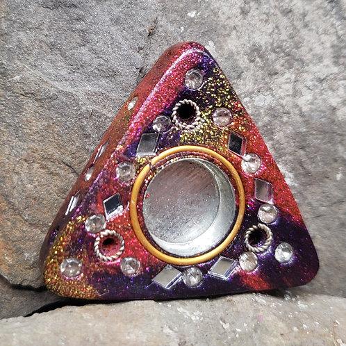 Small Triangle Multicolor Cone Incense Holder