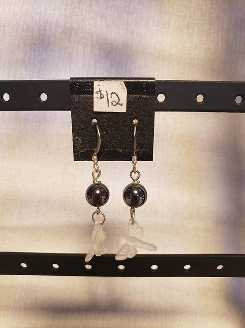 Hematite Dragonfly Earrings