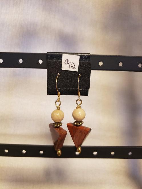 Jasper Triangle Earrings