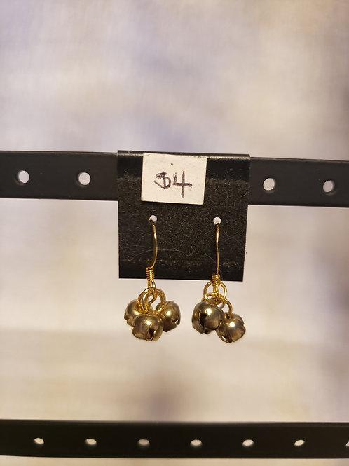 Gold Bell Earrings