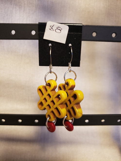 Yellow Celtic Earrings