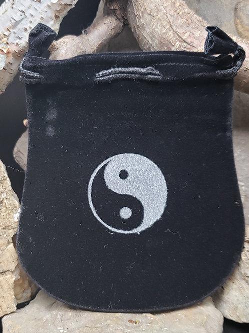 Black Velvet Ying Yang Small Witch Bag