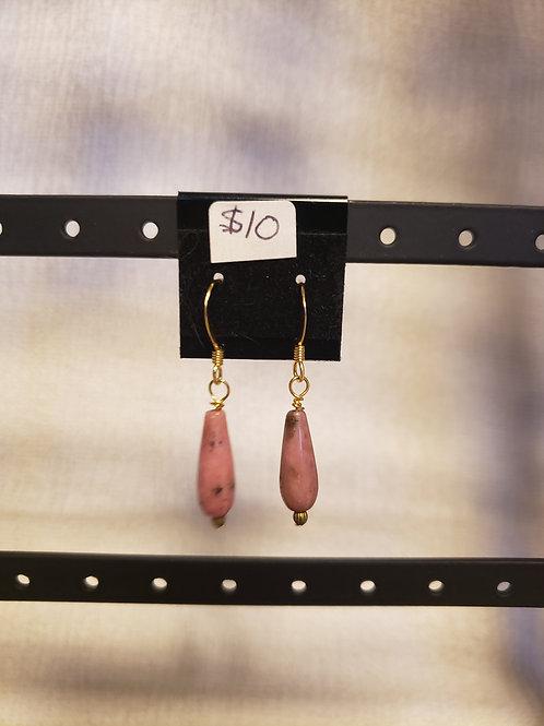 Rhodenite Drop Earrings