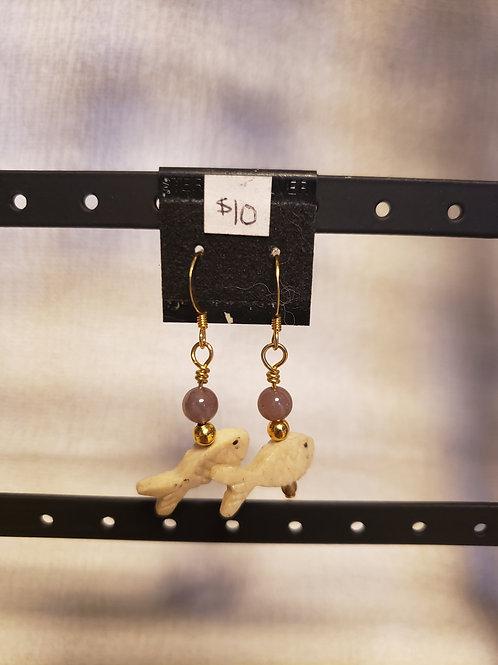 Jasper Fish Earrings