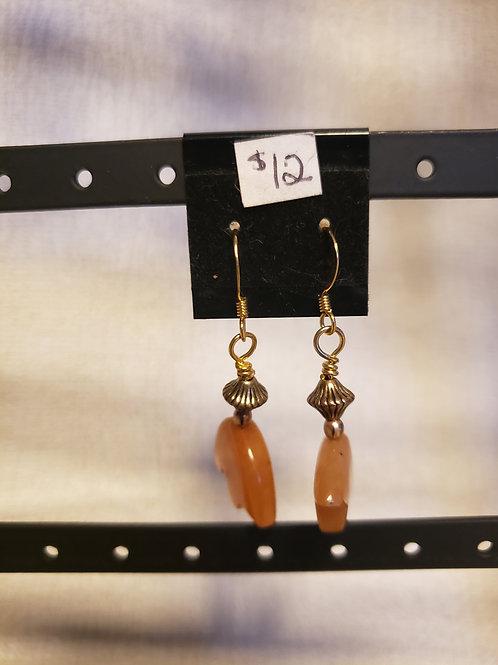 Orange Jasper Bear Earrings