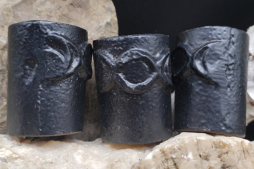 Three Moon Iron Candle Holders