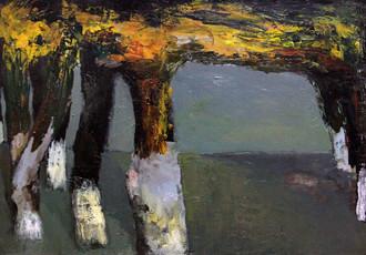 Trees, 92Х85, oil on canvas
