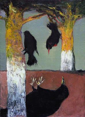 Blackbirds, 100х73, oil on canvas