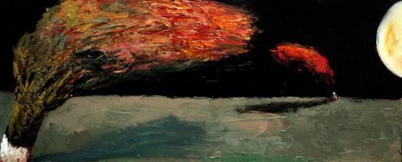 Moonlit Night, 95х40, oil on canvas