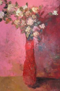 Flowers N61, 100x70, oil on carboard