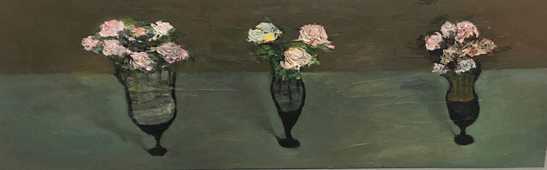 Untilted, 40x122, oil on carboard