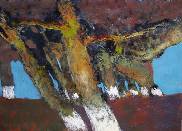 Trees, 100х73, oil on canvas
