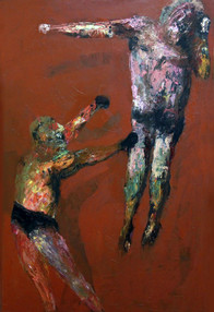 Boxers, 146x97, oil on canvas, 2014