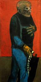 Beads (Tespey), 50x100,oil on canvas