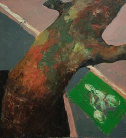 Bicycle, 70x75, oil on canvas, Paris, 2016