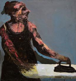 Woman with an Iron, 70х75, oil on canvas, Paris, 2013