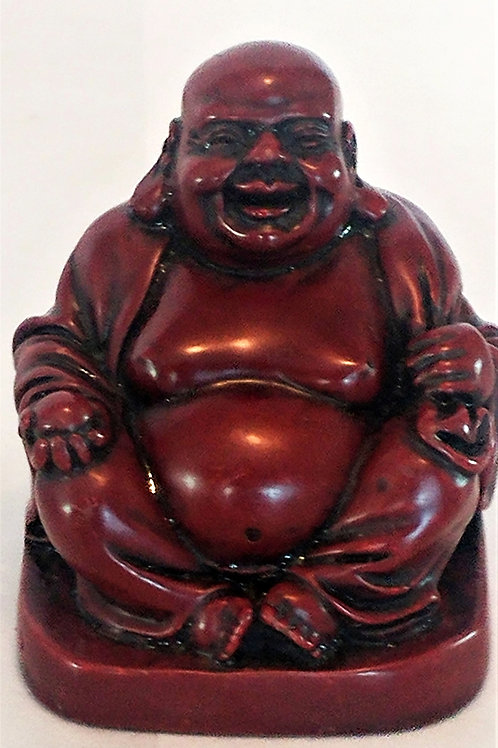 Hotei Red Resin Figurine