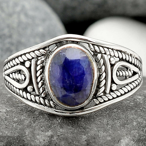Blue Sapphire Ring .925 - Sz 8