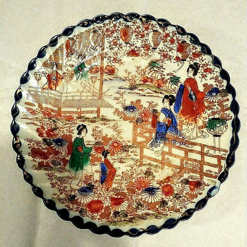 Torii Nippon Antique Hand Painted Geisha Plate