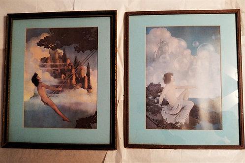 Original Maxfield Parrish Framed Art Prints