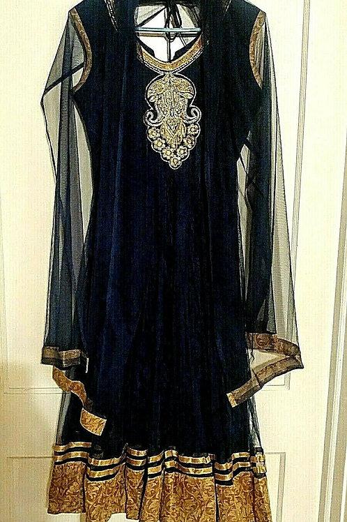 Dubai Kaftan Farasha Abaya Georgette Style (L)