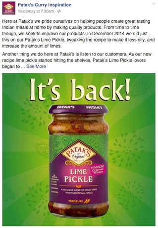 Social Media Outcry Forces Company To Revert To Old Recipe