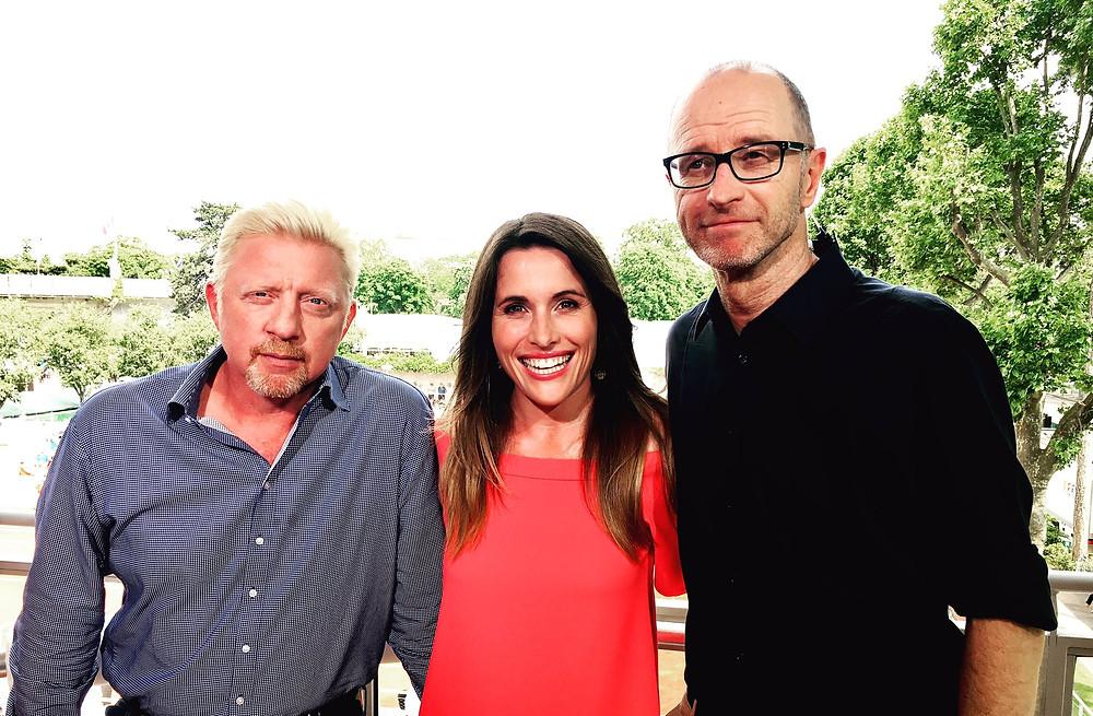 Boris Becker, Birgit Nössing und Matthias Stach (v. l.)