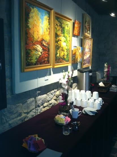 Atrium Hall Drink Set Up