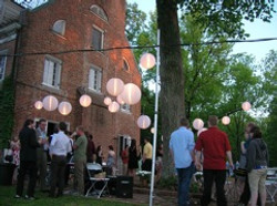 Early Evening Lanterns at Birch House