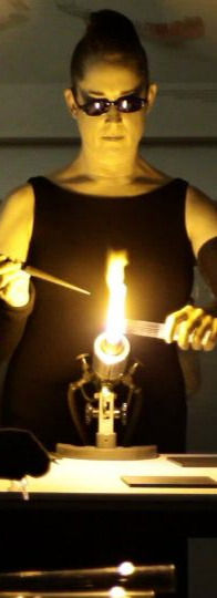 Flames and Frequencies: Performance for Glass Percussion and Fire. Film Still. Photo: Mike Turzanski