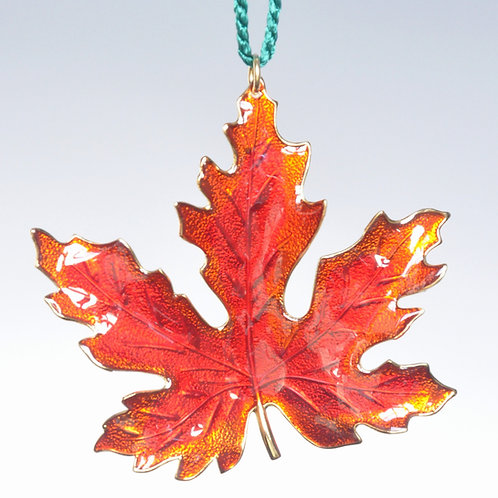 Red/Orange Maple Leaf Ornament