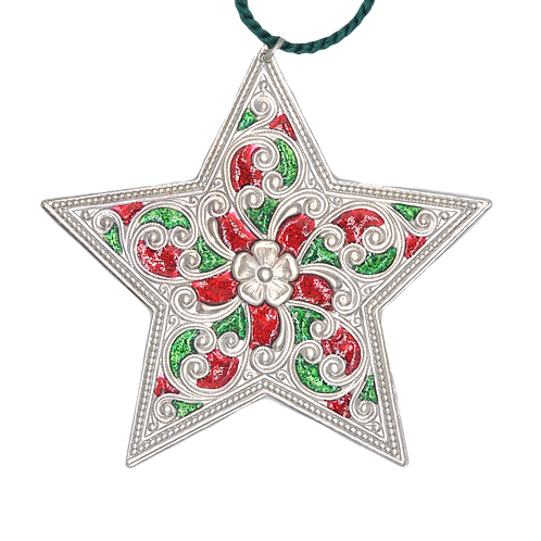 Double-sided Christmas Silver Star