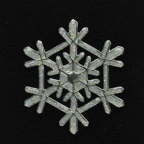 Aurora Borealis Glitter Snowflake Tie Tack Pin