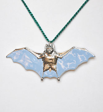 One of a kind Summer Sky Blue Enamel Bat