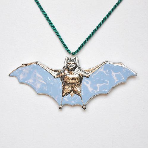 Summer Sky Blue Bat Ornament