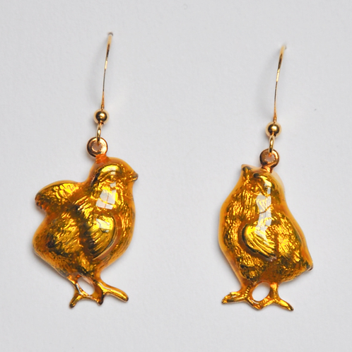 Baby Chick Earrings