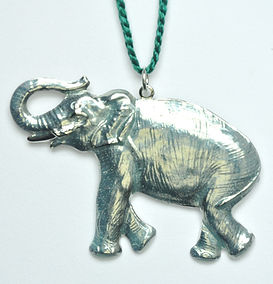 ice blue enamel elephant ornament