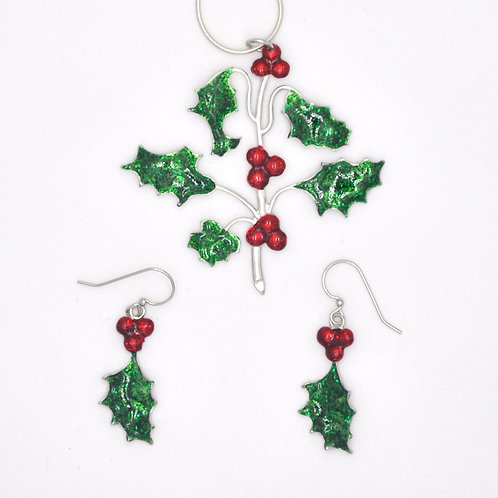 Holly Necklace and Earrings Set