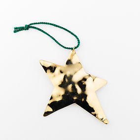 hammered gold star ornament