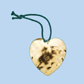 hand hammered heart ornament Carrie Fert