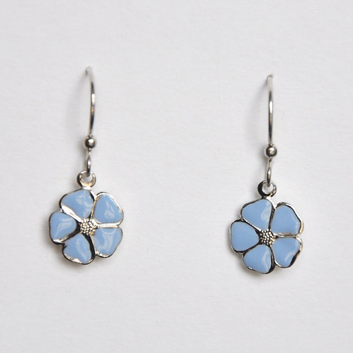 Summer Sky Blue Flower Earrings